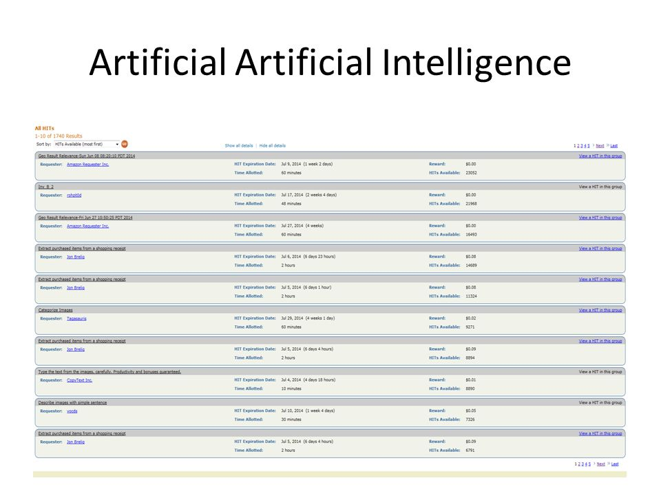 Artificial Artificial Intelligence