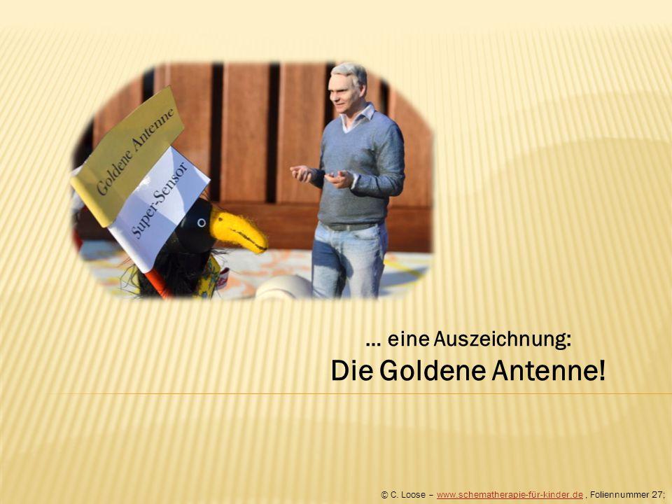 Die Goldene Antenne! … eine Auszeichnung: