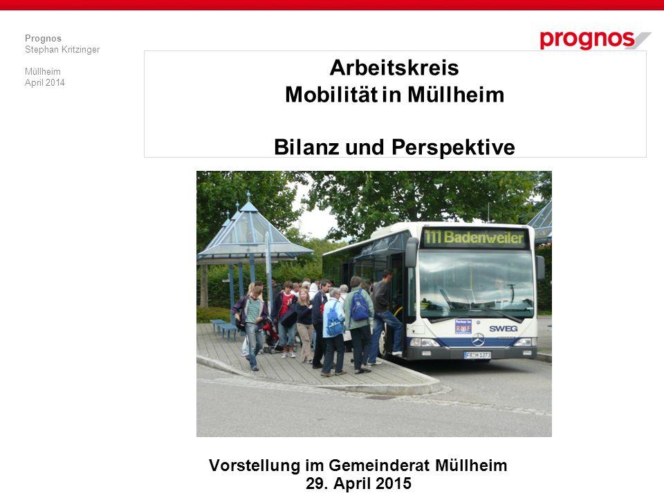 Arbeitskreis Mobilität in Müllheim Bilanz und Perspektive