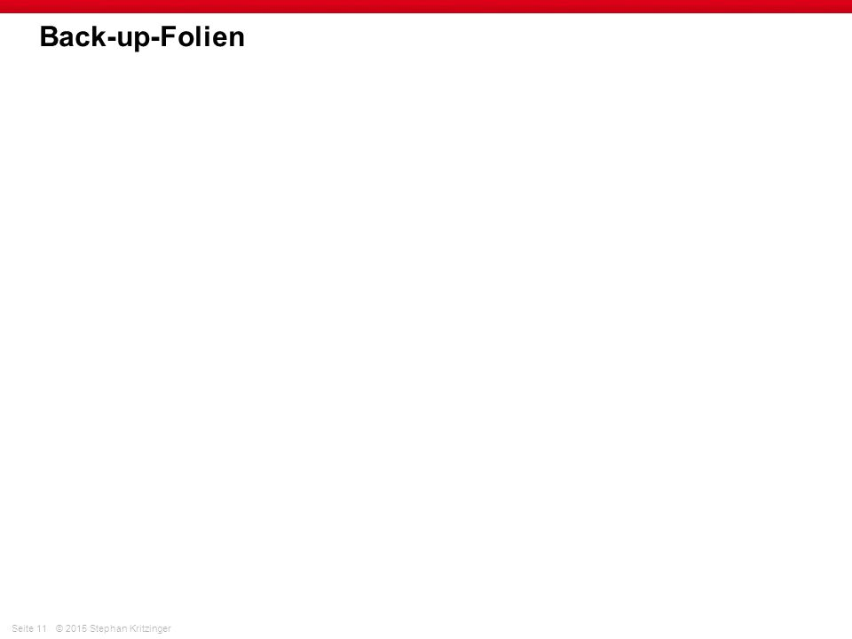 Back-up-Folien
