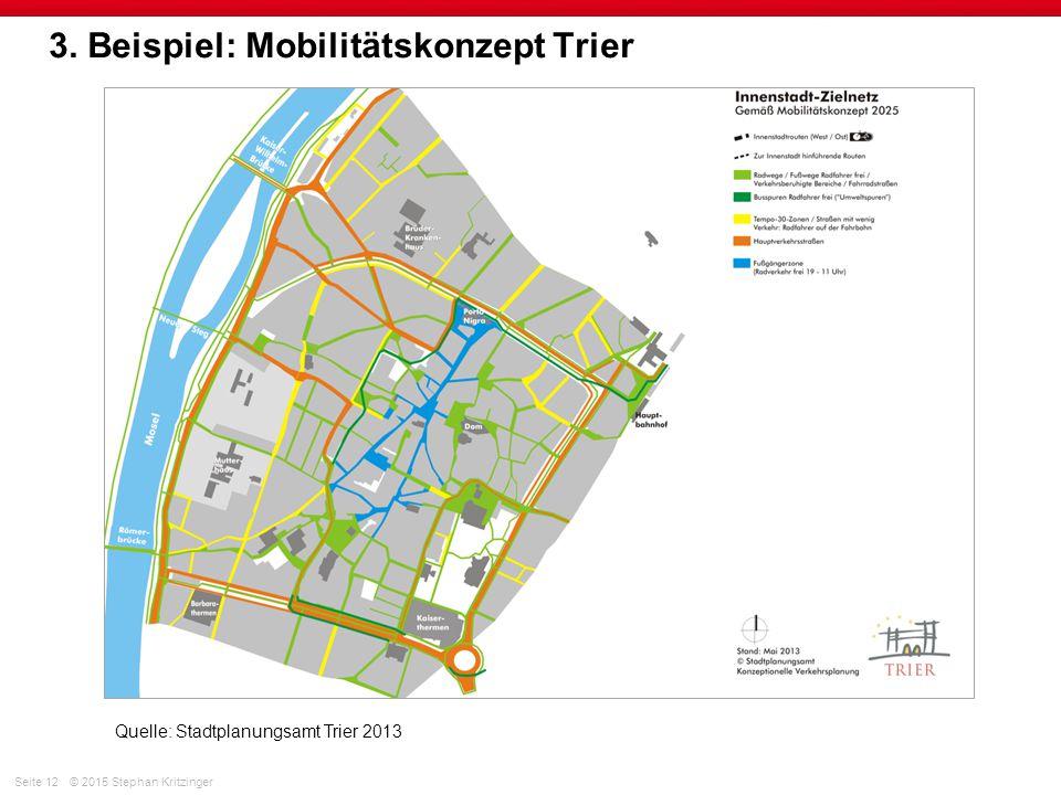 3. Beispiel: Mobilitätskonzept Trier