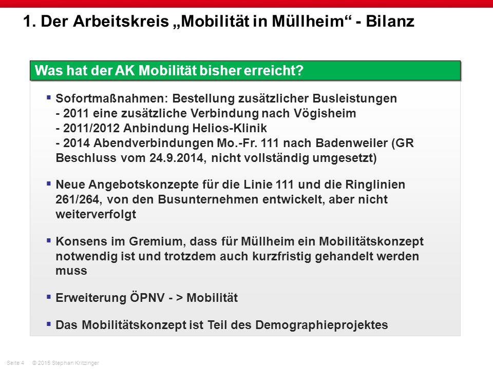 """1. Der Arbeitskreis """"Mobilität in Müllheim - Bilanz"""