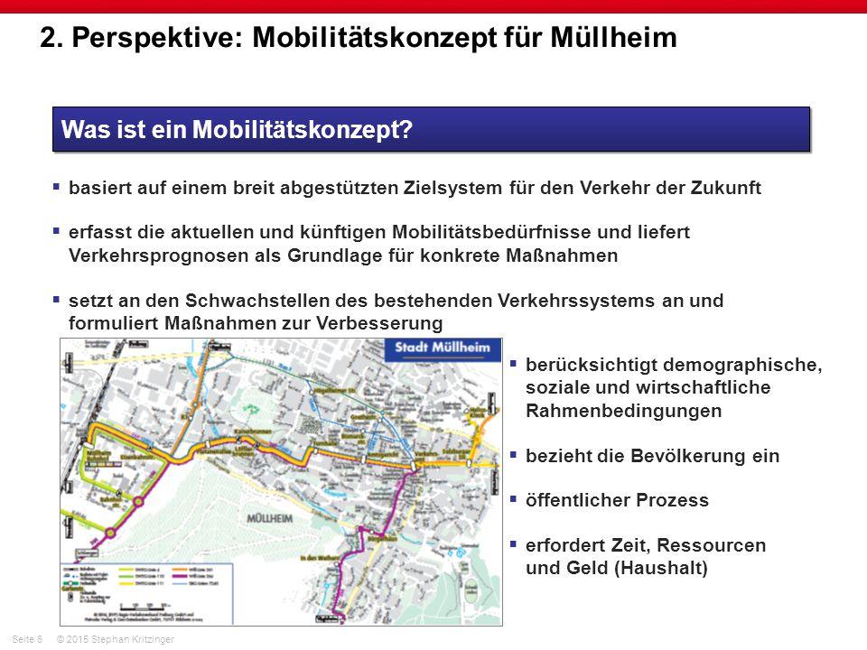 2. Perspektive: Mobilitätskonzept für Müllheim