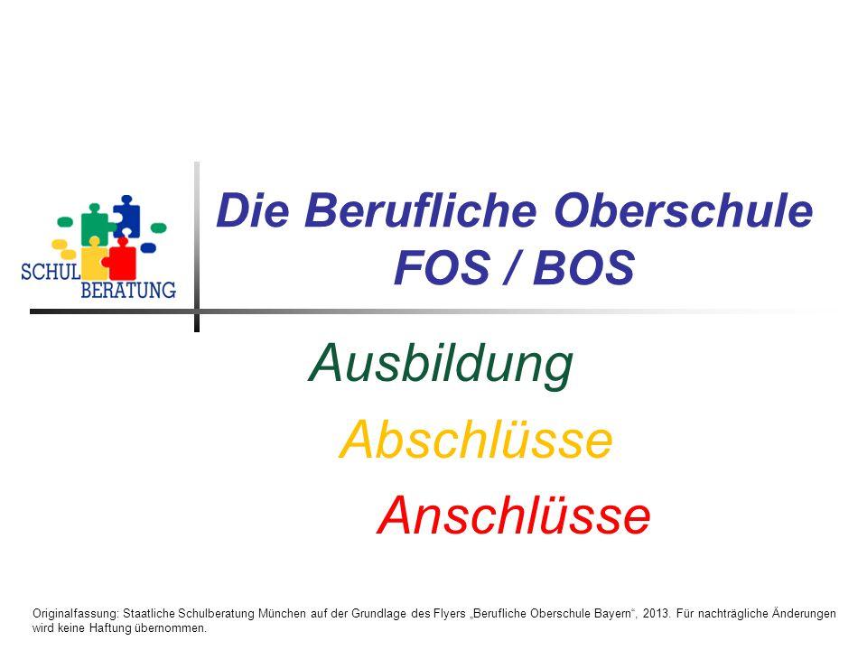 Die Berufliche Oberschule FOS / BOS