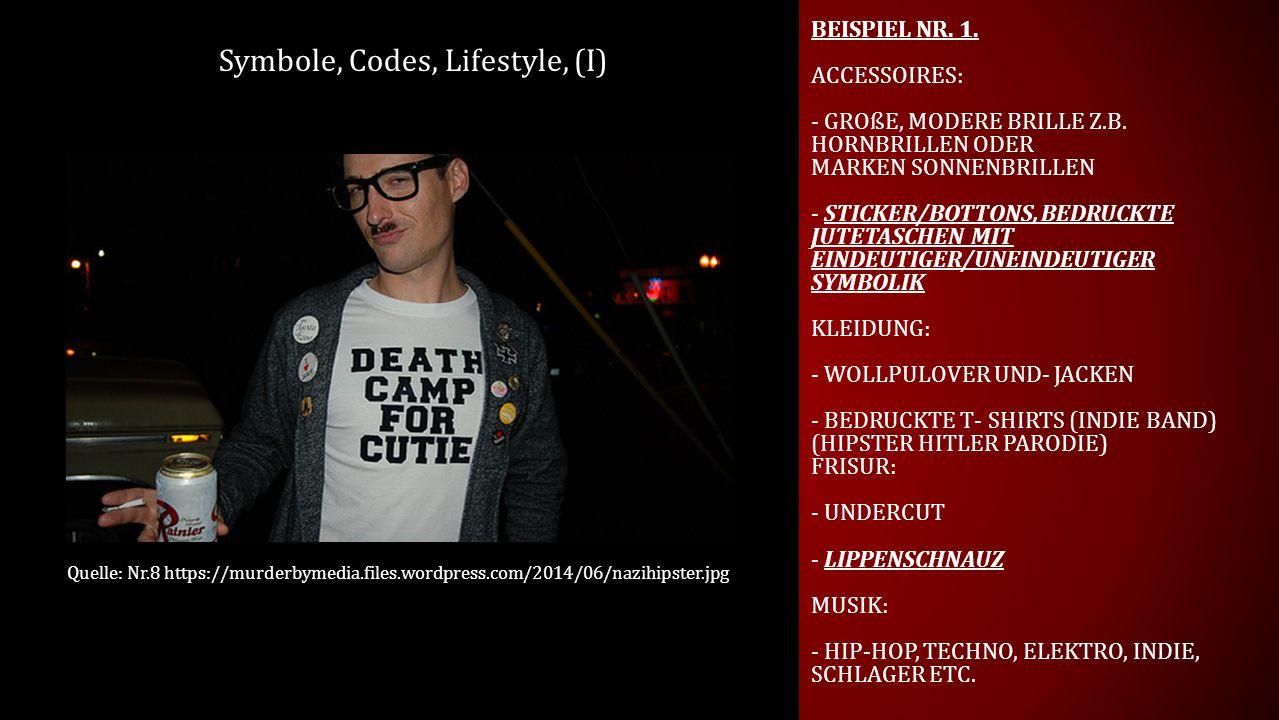 Symbole, Codes, Lifestyle, (I)
