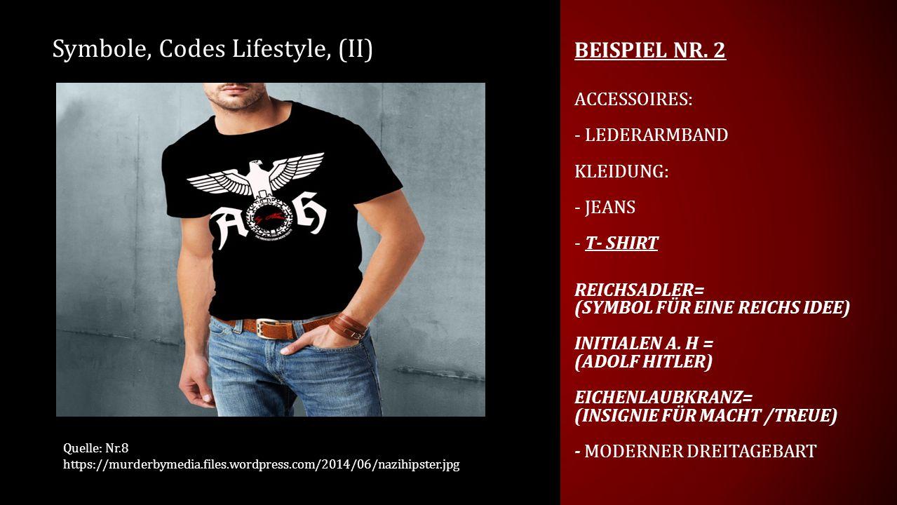 Symbole, Codes Lifestyle, (II)