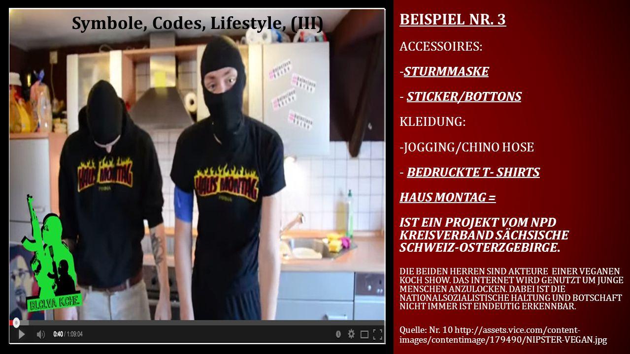 Symbole, Codes, Lifestyle, (III)