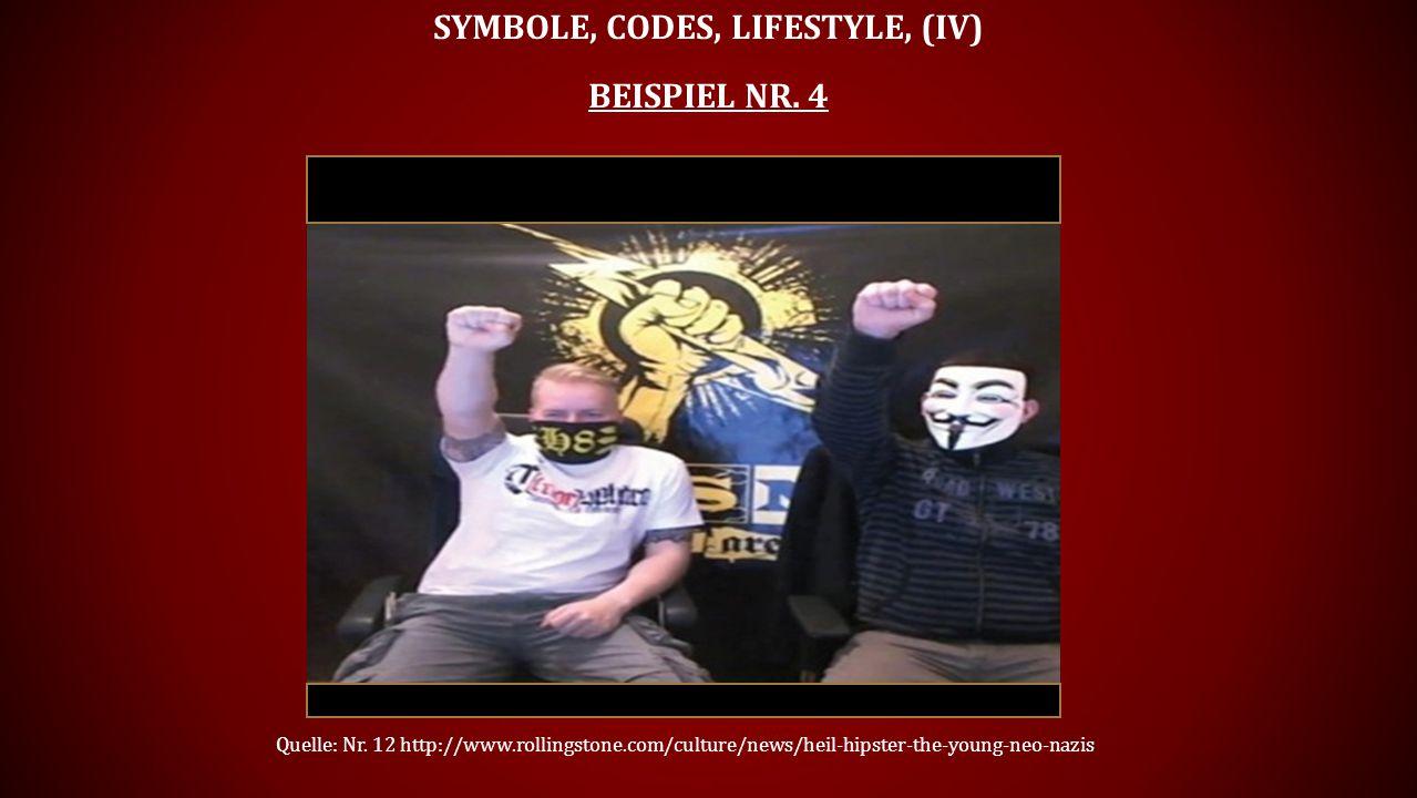 Symbole, Codes, Lifestyle, (Iv) Beispiel Nr. 4