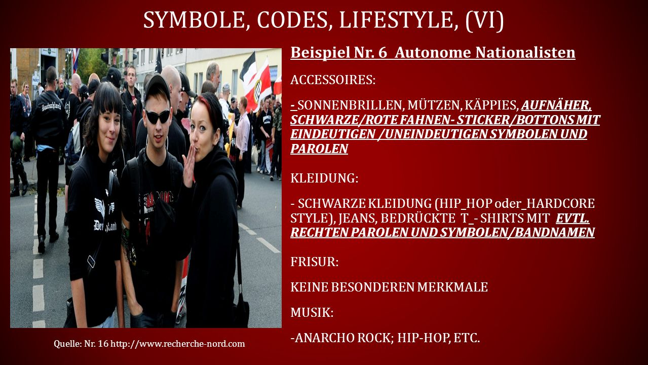 Symbole, Codes, Lifestyle, (vI)