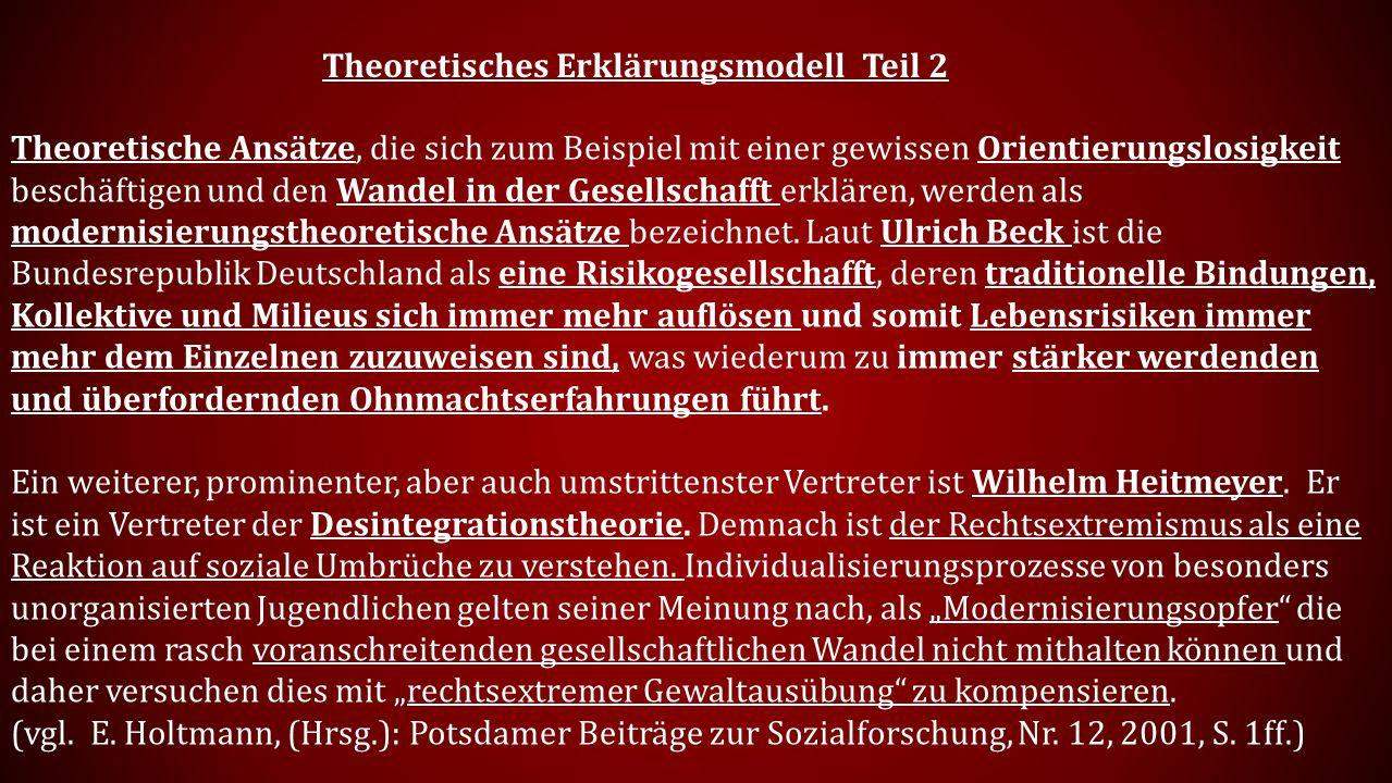 Theoretisches Erklärungsmodell Teil 2