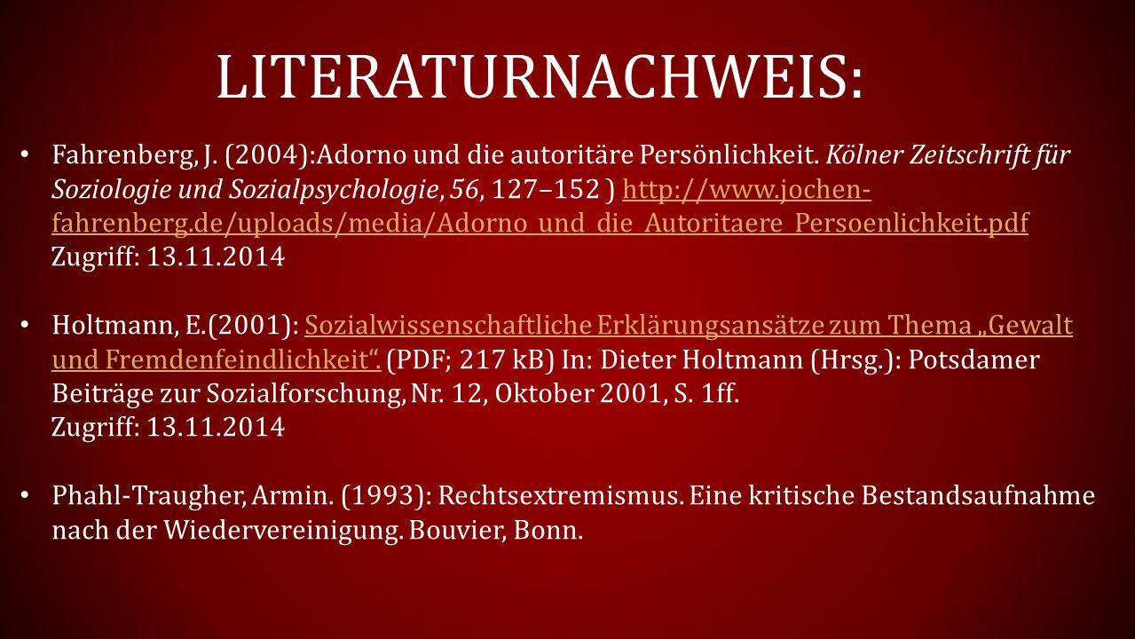LITERATURNACHWEIS: