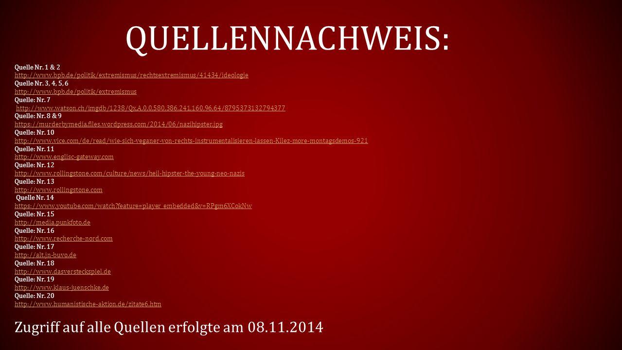 QUELLENNACHWEIS: Zugriff auf alle Quellen erfolgte am 08.11.2014