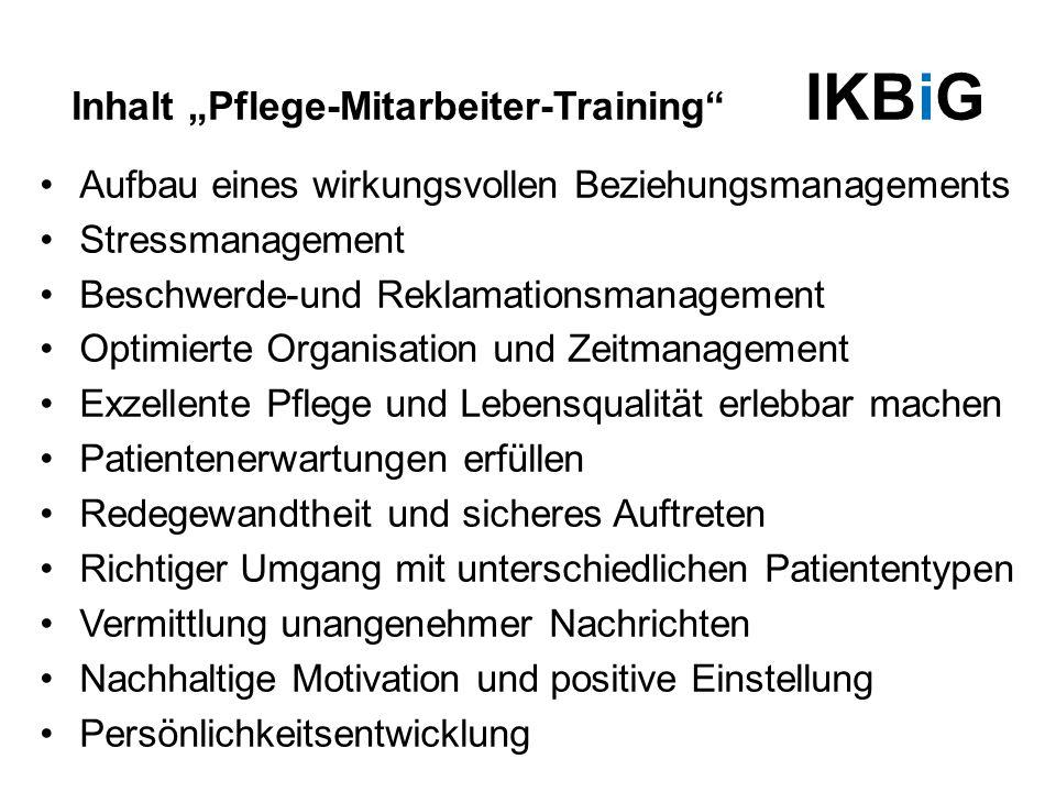 """Inhalt """"Pflege-Mitarbeiter-Training IKBiG"""