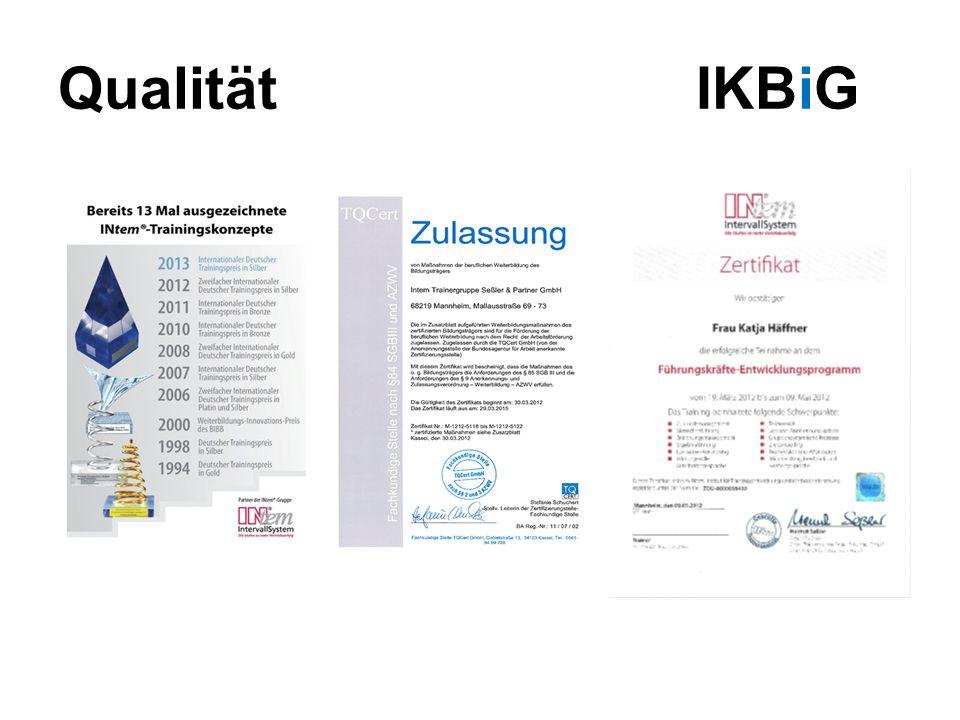 Qualität IKBiG
