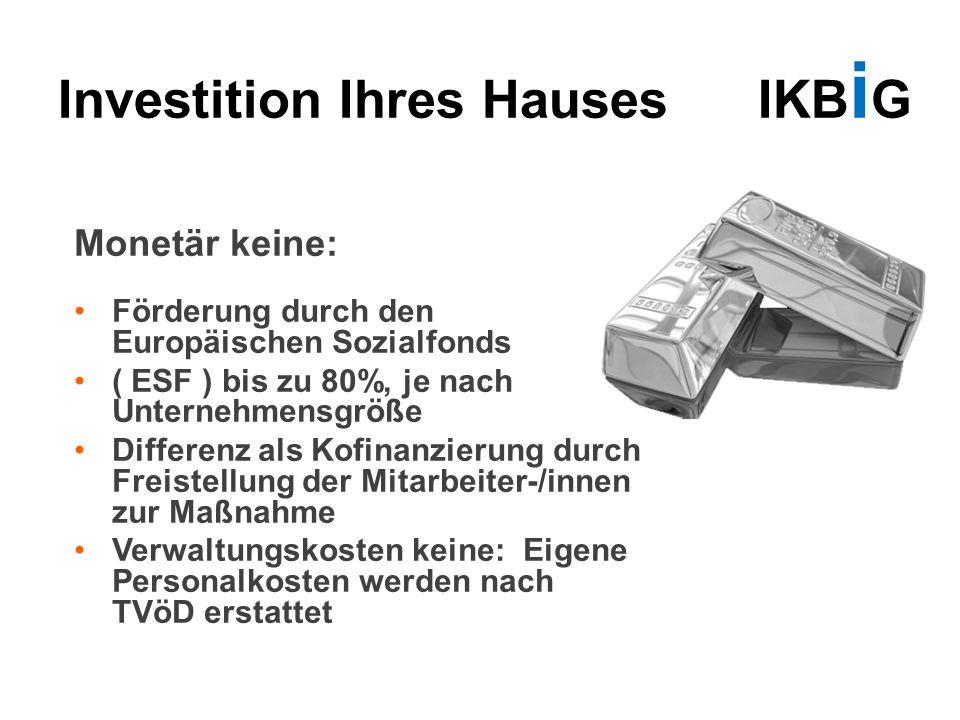 Investition Ihres Hauses IKBiG