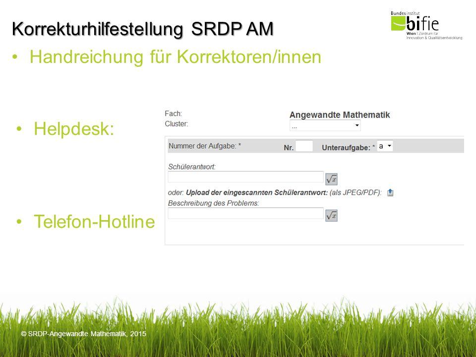 Korrekturhilfestellung SRDP AM