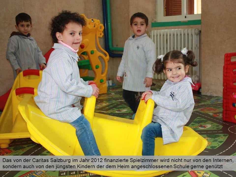 Das von der Caritas Salzburg im Jahr 2012 finanzierte Spielzimmer wird nicht nur von den Internen, sondern auch von den jüngsten Kindern der dem Heim angeschlossenen Schule gerne genützt