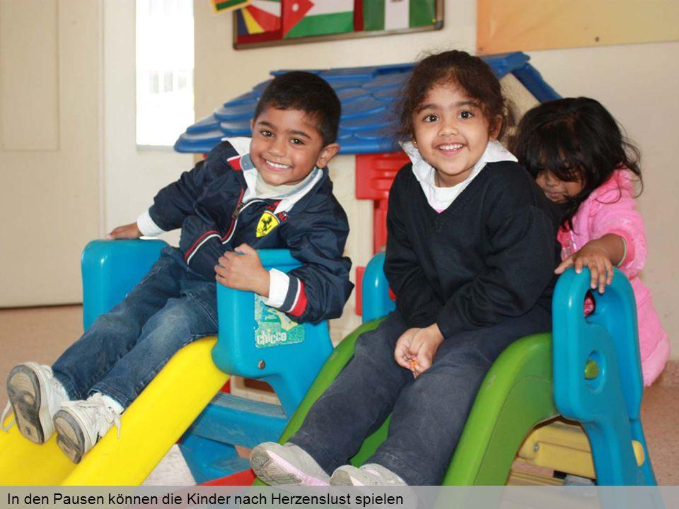 In den Pausen können die Kinder nach Herzenslust spielen