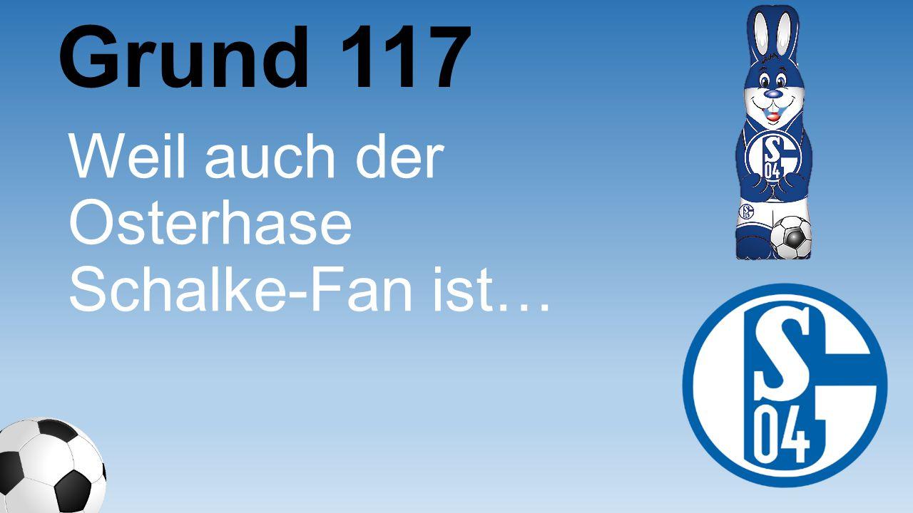 Grund 117 Weil auch der Osterhase Schalke-Fan ist…