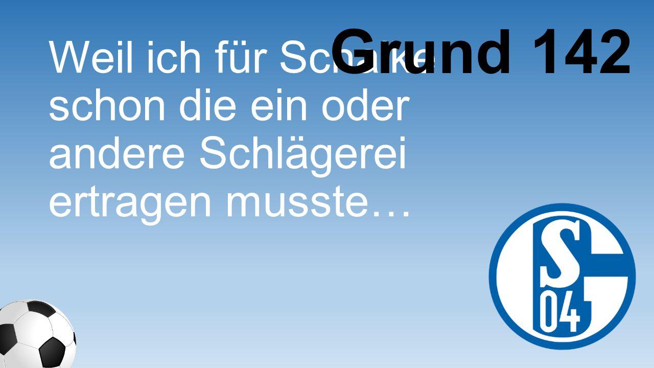 Grund 142 Weil ich für Schalke schon die ein oder andere Schlägerei ertragen musste…