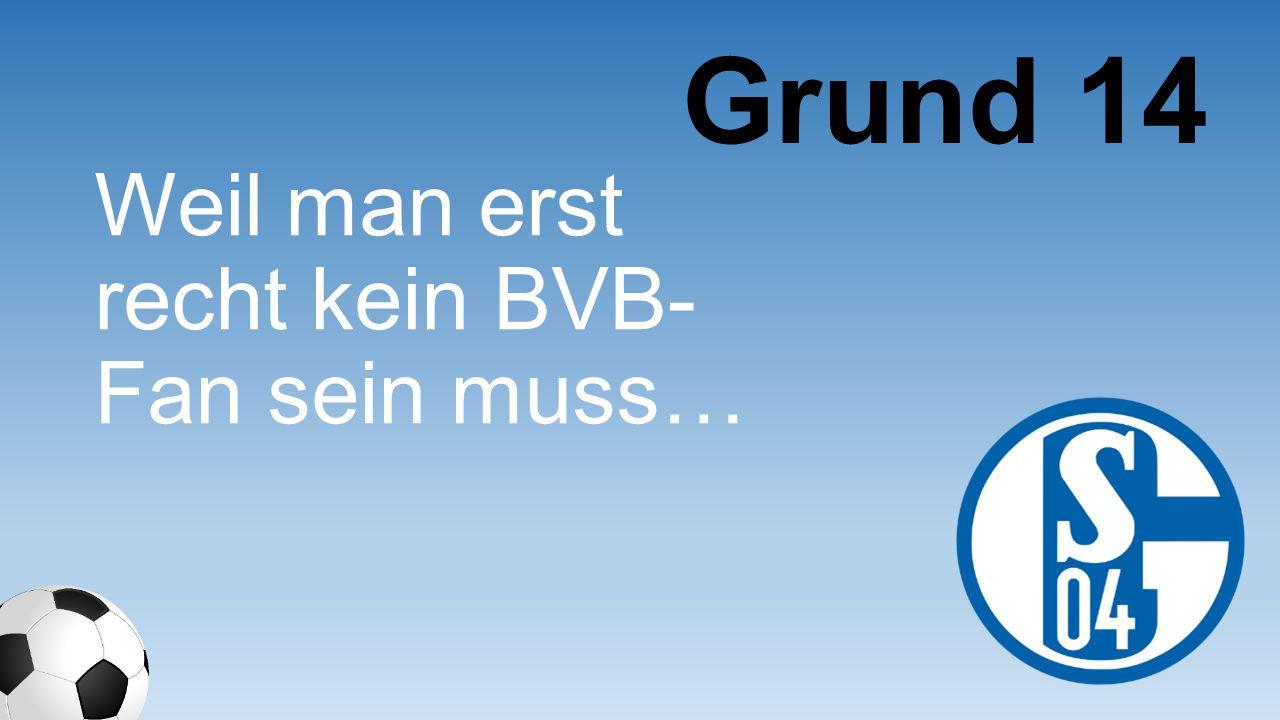 Grund 14 Weil man erst recht kein BVB-Fan sein muss…
