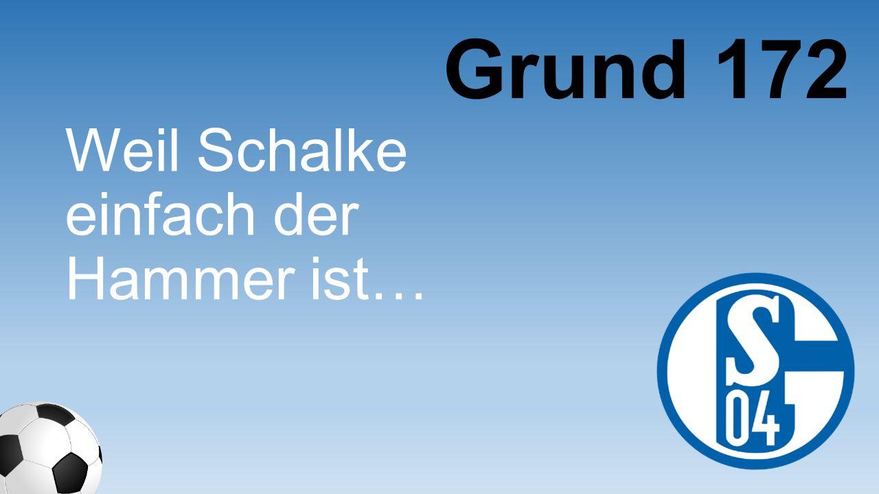 Grund 172 Weil Schalke einfach der Hammer ist…
