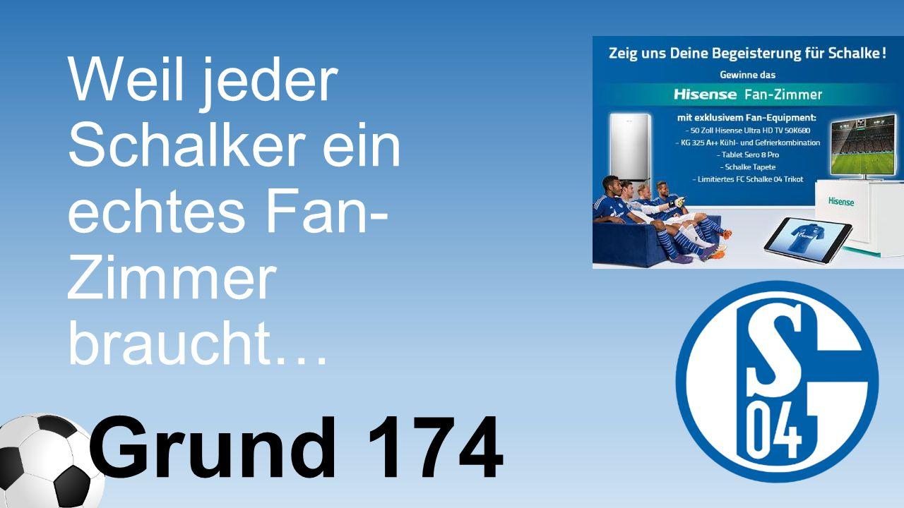 Weil jeder Schalker ein echtes Fan- Zimmer braucht…