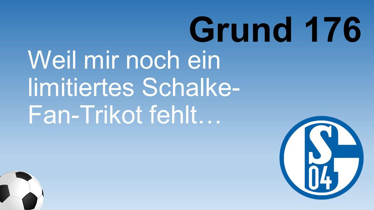 Grund 176 Weil mir noch ein limitiertes Schalke-Fan- Trikot fehlt…