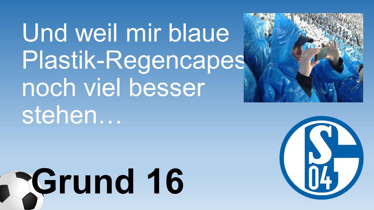 Und weil mir blaue Plastik- Regencapes noch viel besser stehen…