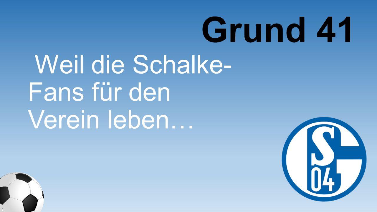 Grund 41 Weil die Schalke-Fans für den Verein leben…
