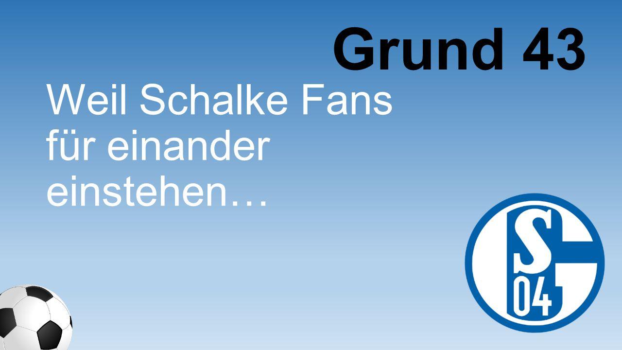 Grund 43 Weil Schalke Fans für einander einstehen…