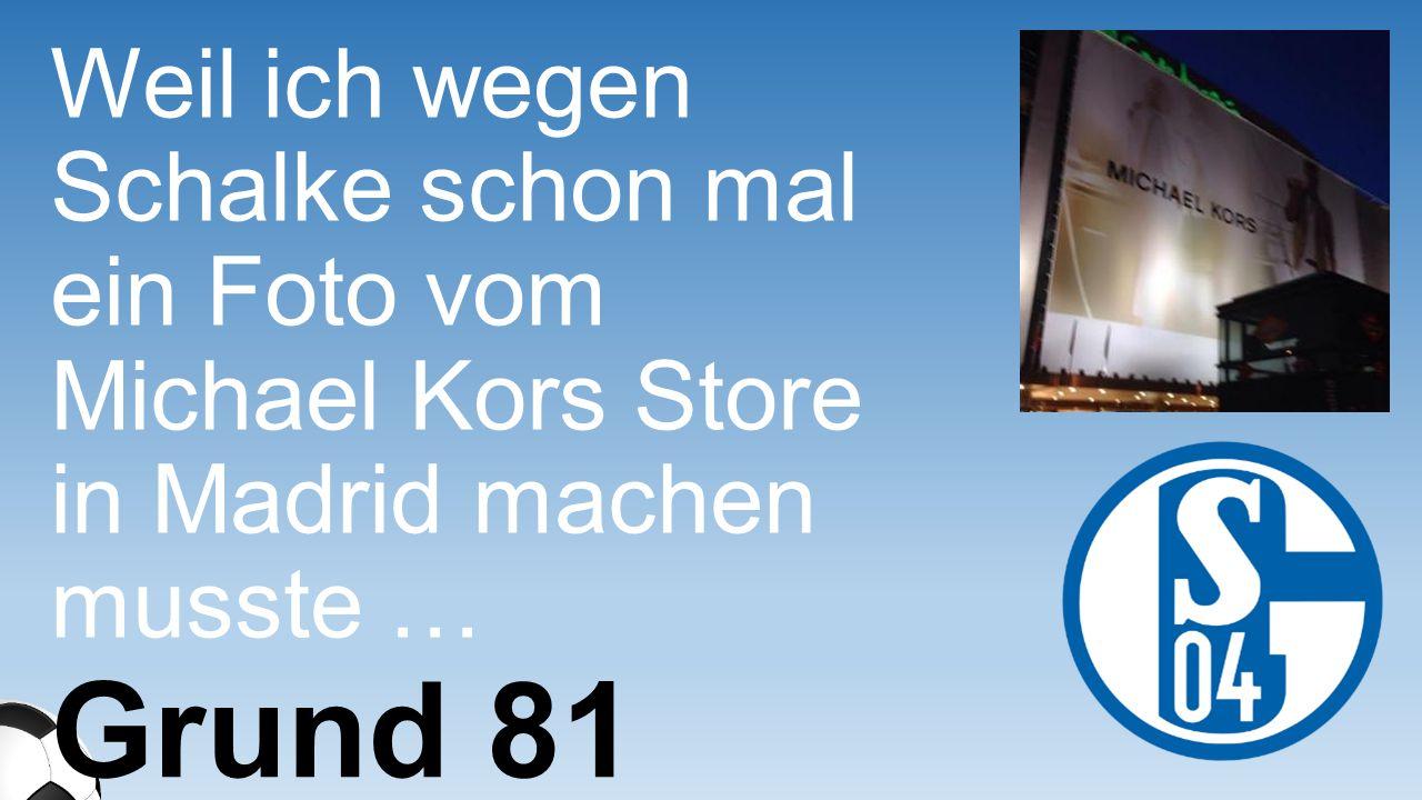 Weil ich wegen Schalke schon mal ein Foto vom Michael Kors Store in Madrid machen musste …