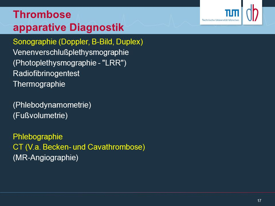 Thrombose apparative Diagnostik