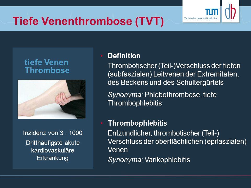 Tiefe Venenthrombose der oberen Extremität