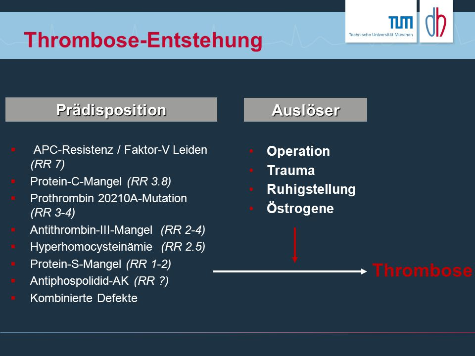 Thrombose-Entstehung