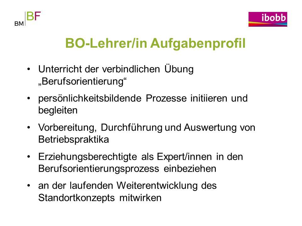 BO-Lehrer/in Aufgabenprofil