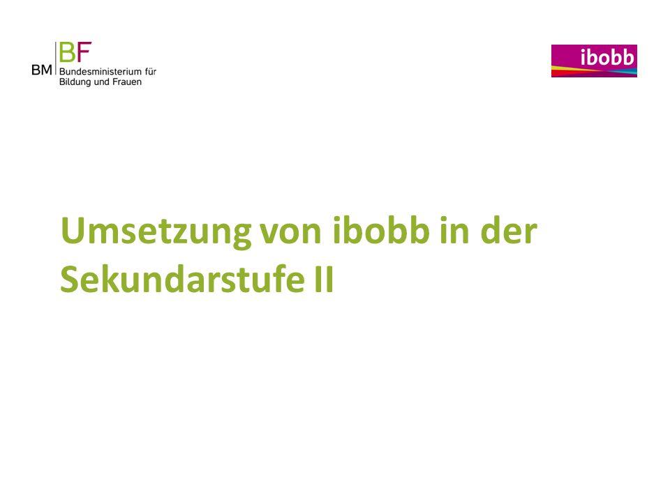 Umsetzung von ibobb in der Sekundarstufe II