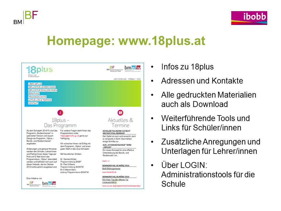 Homepage: www.18plus.at Infos zu 18plus Adressen und Kontakte