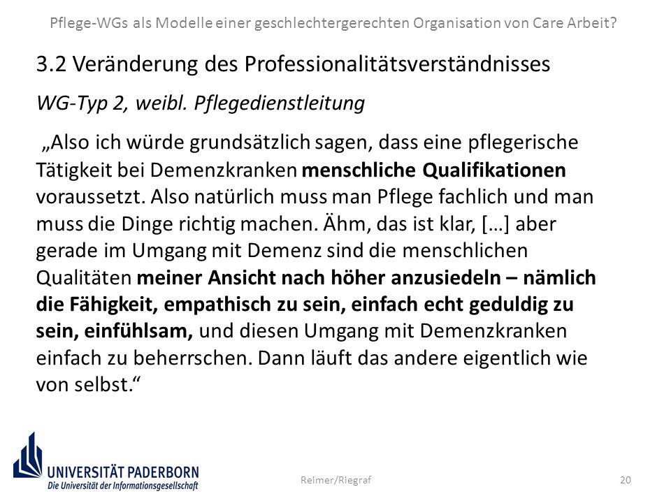 Pflege-WGs als Modelle einer geschlechtergerechten Organisation von Care Arbeit