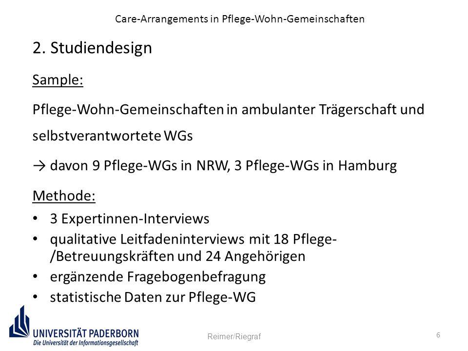 Care-Arrangements in Pflege-Wohn-Gemeinschaften