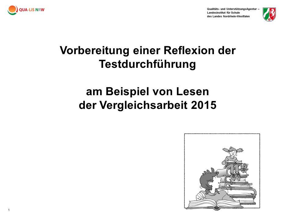Vorbereitung einer Reflexion der Testdurchführung