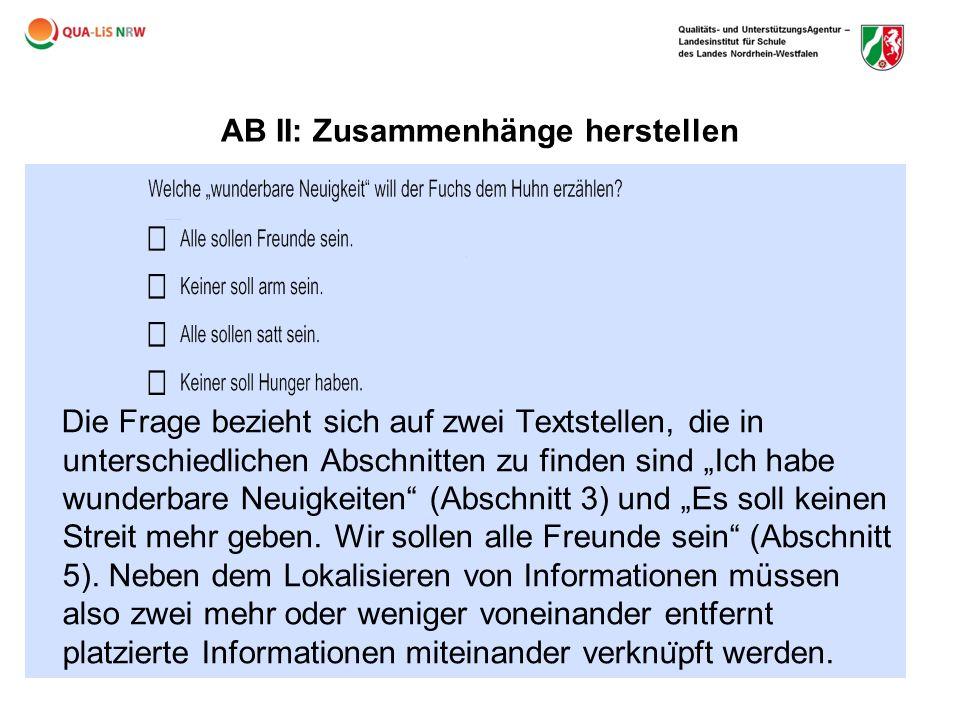 AB II: Zusammenhänge herstellen
