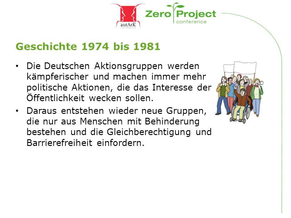 Geschichte 1974 bis 1981