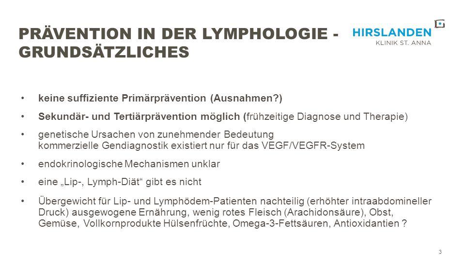 Prävention in der Lymphologie - Grundsätzliches