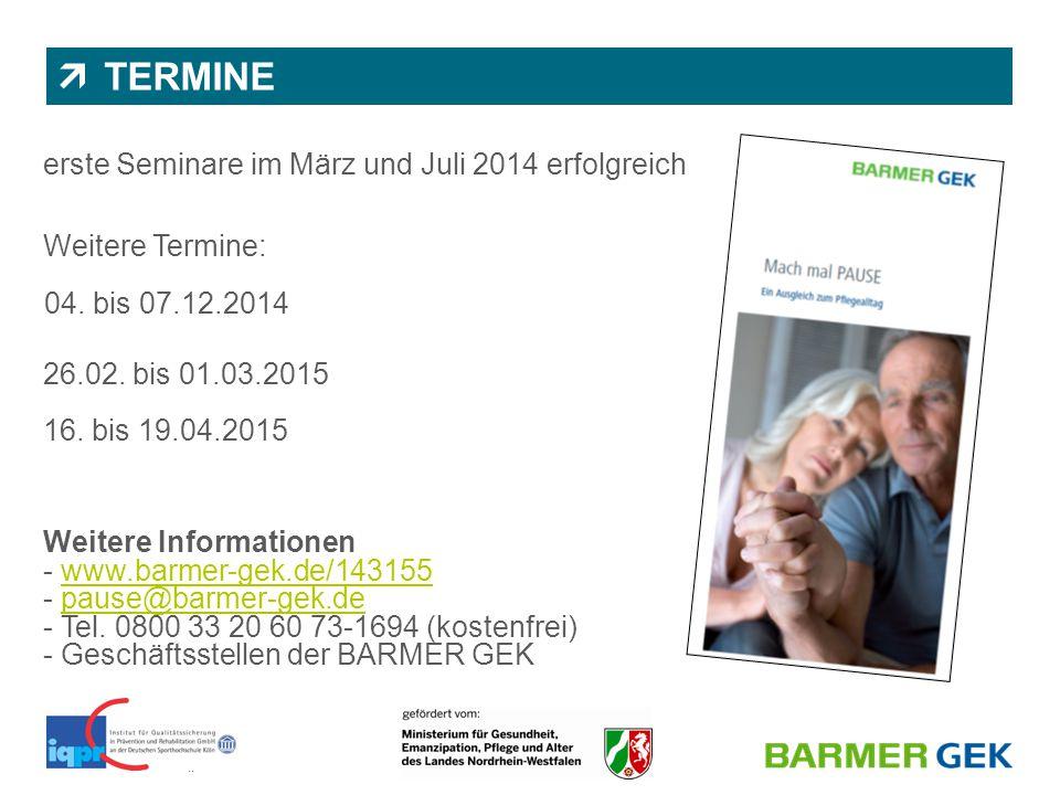 TERMINE erste Seminare im März und Juli 2014 erfolgreich