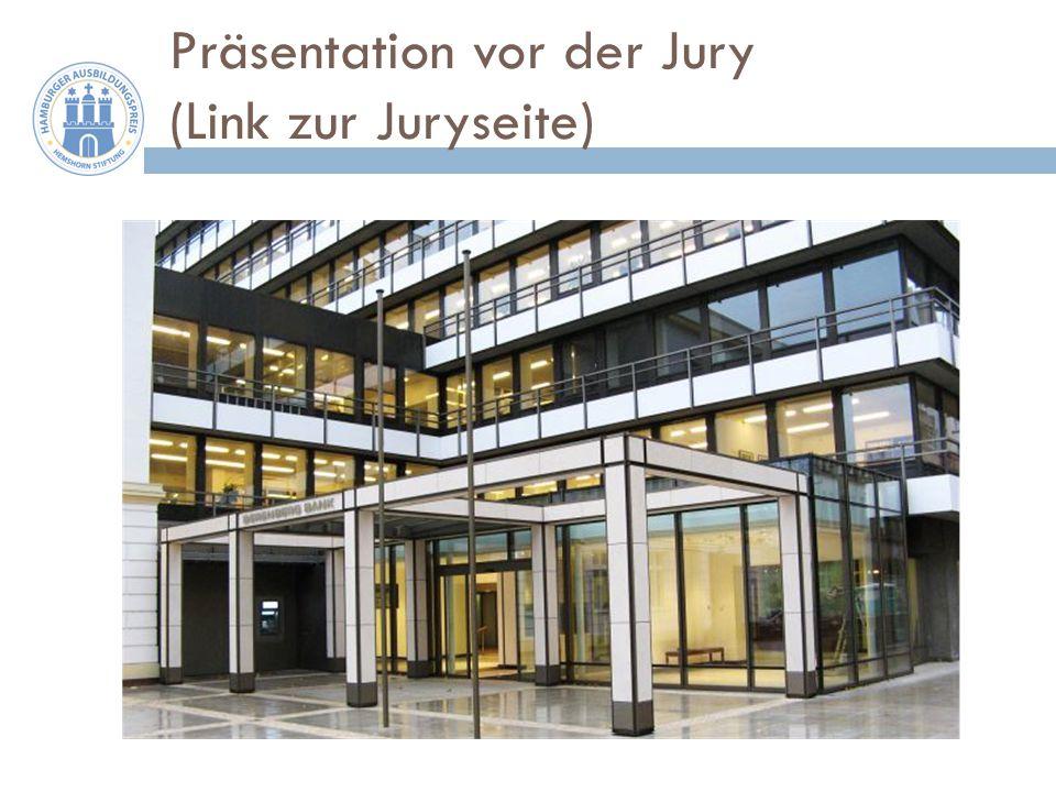 Präsentation vor der Jury (Link zur Juryseite)