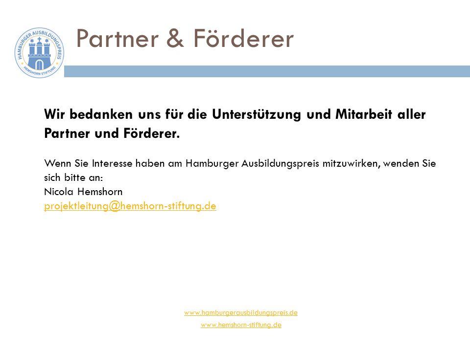 www.hamburgerausbildungspreis.de www.hemshorn-stiftung.de