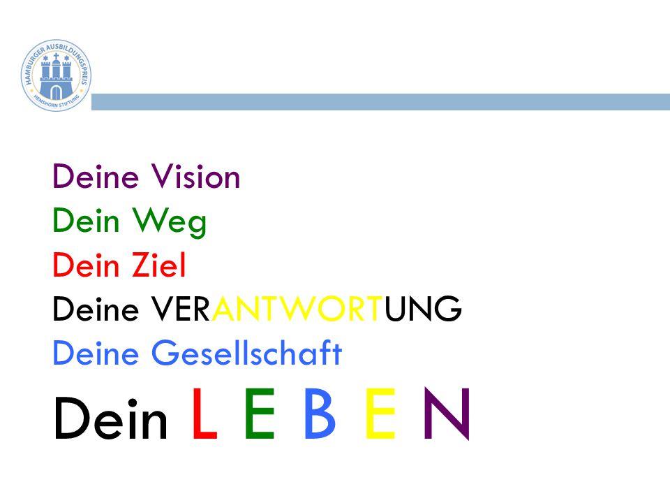 Dein L E B E N Deine Vision Dein Weg Dein Ziel Deine VERANTWORTUNG