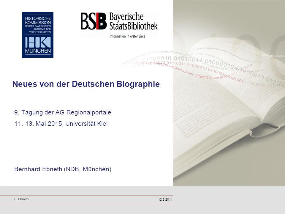 Neues von der Deutschen Biographie