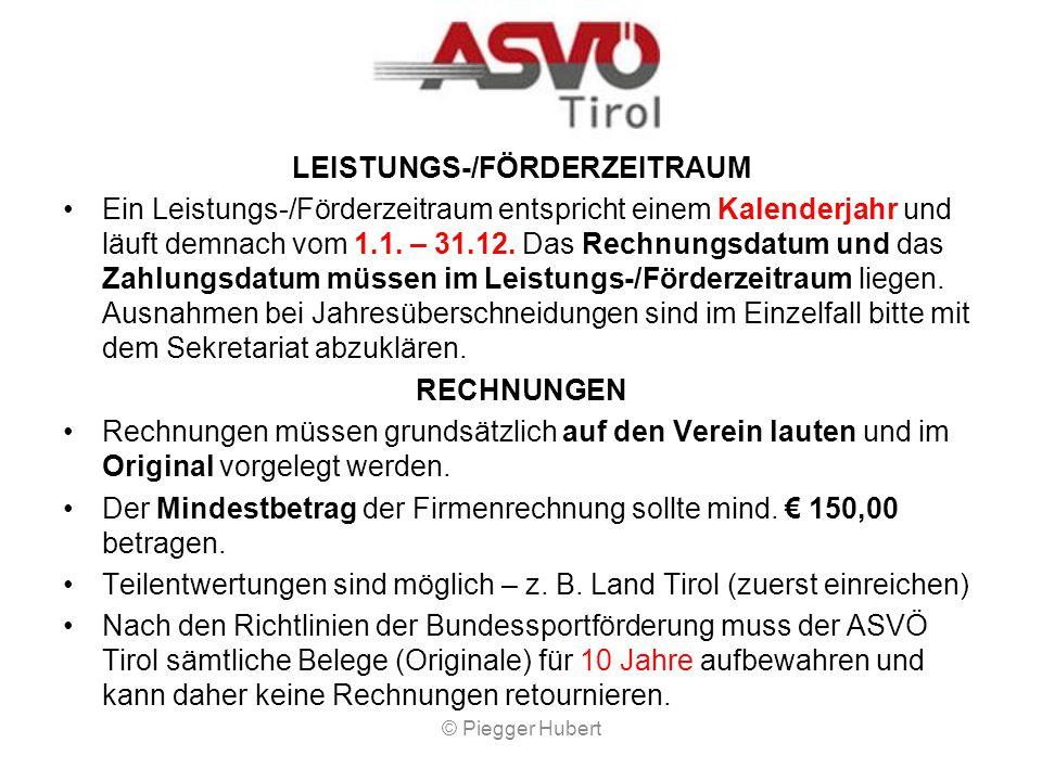 LEISTUNGS-/FÖRDERZEITRAUM